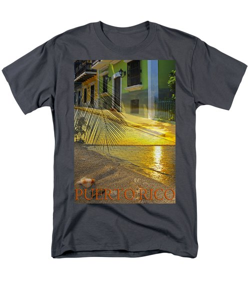 Puerto Rico Collage 3 Men's T-Shirt  (Regular Fit) by Stephen Anderson