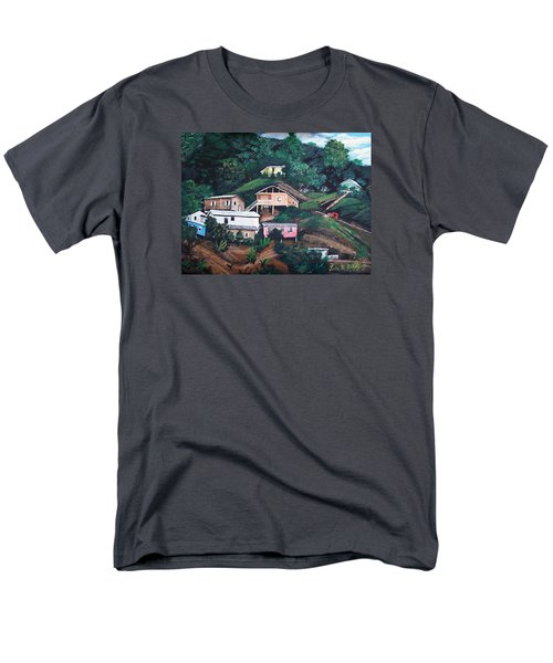 Puerto Rico Mountain View Men's T-Shirt  (Regular Fit) by Luis F Rodriguez