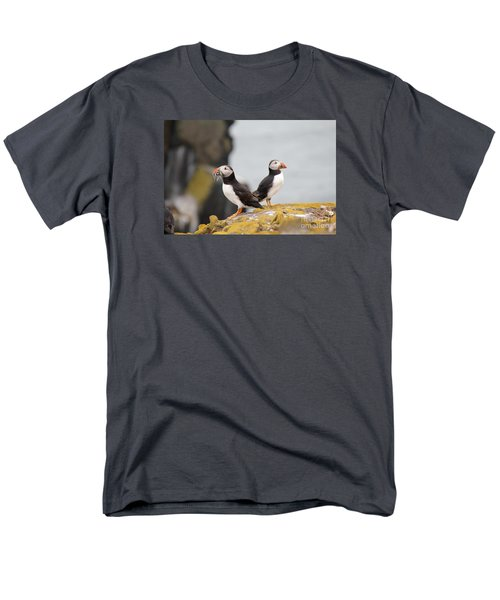 Men's T-Shirt  (Regular Fit) featuring the photograph Puffin's by David Grant