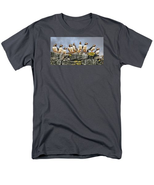 Men's T-Shirt  (Regular Fit) featuring the photograph Puffin's Rock by Brian Tarr