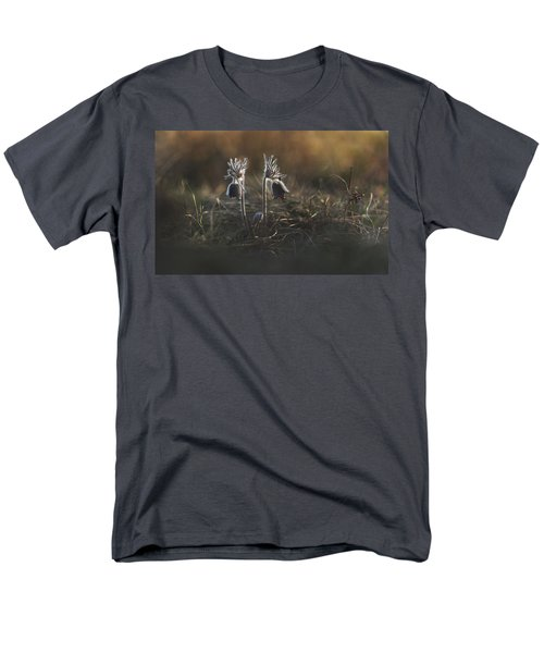 Men's T-Shirt  (Regular Fit) featuring the photograph Pulsatilla Nigricans by Davorin Mance