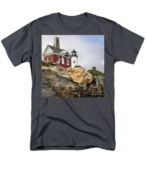 Pumphouse And Tower, Pemaquid Light, Bristol, Maine  -18958 Men's T-Shirt  (Regular Fit)