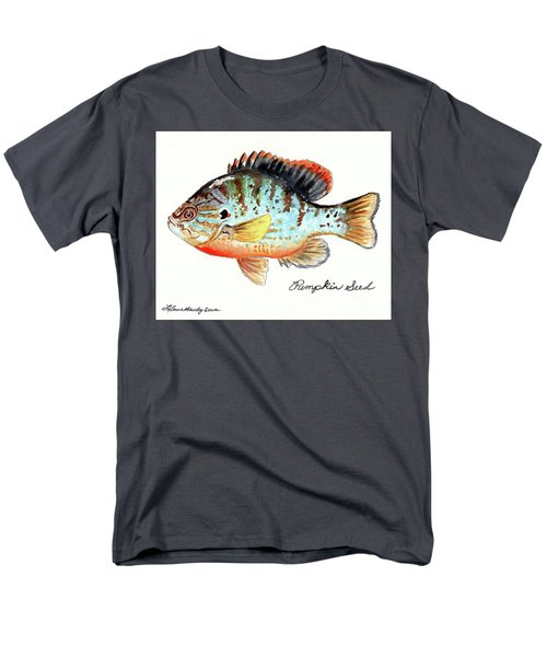 Men's T-Shirt  (Regular Fit) featuring the painting Pumpkin Seed Fish by LeAnne Sowa