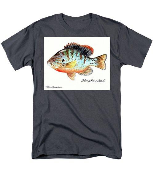 Pumpkin Seed Fish Men's T-Shirt  (Regular Fit) by LeAnne Sowa