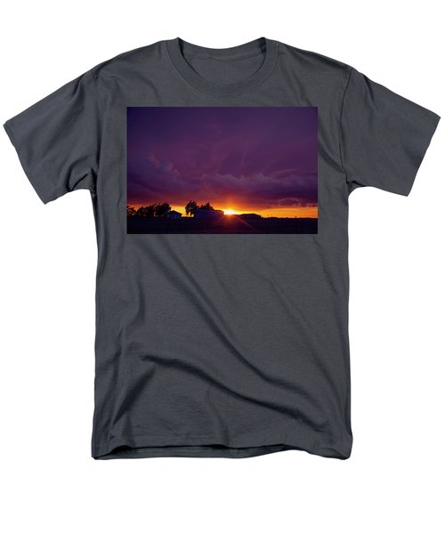 Men's T-Shirt  (Regular Fit) featuring the photograph Purple Clouds by Toni Hopper