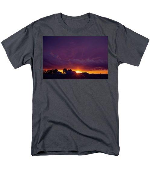 Purple Clouds Men's T-Shirt  (Regular Fit) by Toni Hopper