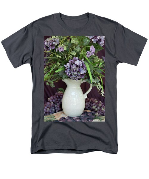 Men's T-Shirt  (Regular Fit) featuring the photograph Purple Pleasures by Sherry Hallemeier