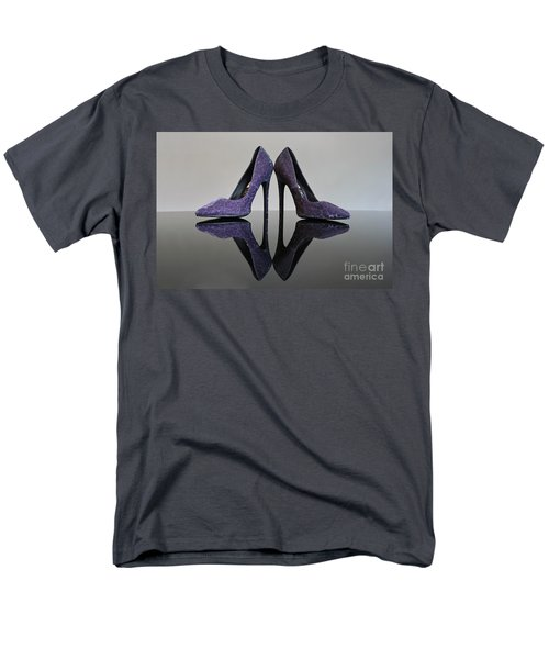Men's T-Shirt  (Regular Fit) featuring the photograph Purple Stiletto Shoes by Terri Waters
