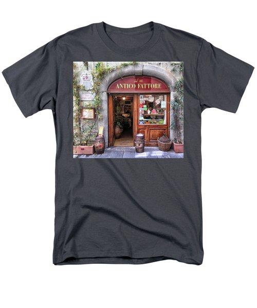 Quaint Restaurant In Florence Men's T-Shirt  (Regular Fit) by Dave Mills