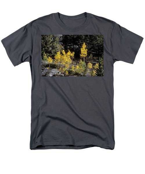 Aspens In Fall At Eleven Mile Canyon, Colorado Men's T-Shirt  (Regular Fit) by John Brink