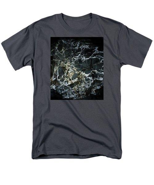 Quartz Veins Abstract 1 Men's T-Shirt  (Regular Fit) by Richard Brookes