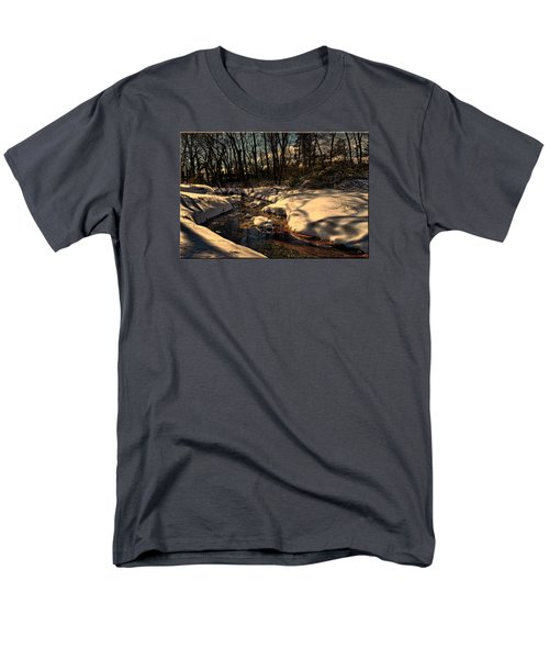 Quiet Brook On A Snowcovered Landscape Men's T-Shirt  (Regular Fit) by Mikki Cucuzzo