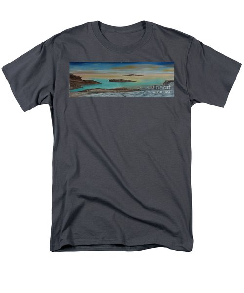 Men's T-Shirt  (Regular Fit) featuring the painting Quiet Tropical Waters by Rod Jellison