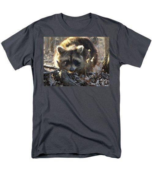 Raccoon Sunset Men's T-Shirt  (Regular Fit) by Erick Schmidt