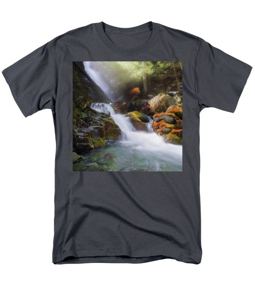 Men's T-Shirt  (Regular Fit) featuring the photograph Race Brook Falls 2017 Square by Bill Wakeley