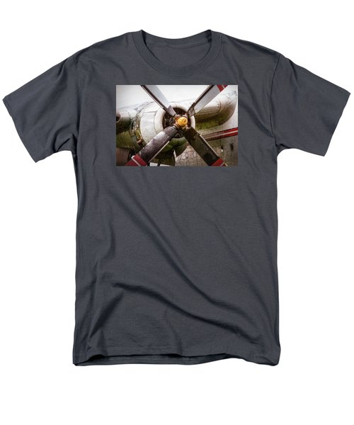 Men's T-Shirt  (Regular Fit) featuring the photograph Radial Engine And Prop - Fairchild C-119 Flying Boxcar by Gary Heller