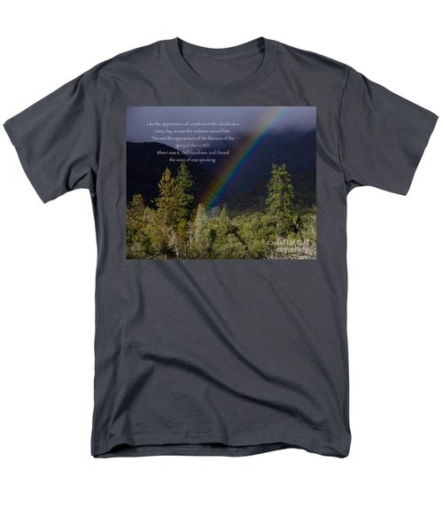 Men's T-Shirt  (Regular Fit) featuring the photograph Radiance Of The Rainbow by Debby Pueschel