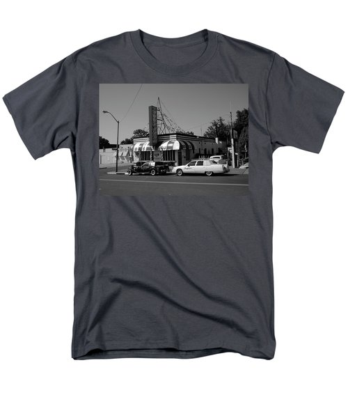 Men's T-Shirt  (Regular Fit) featuring the photograph Raifords Disco Memphis A Bw by Mark Czerniec