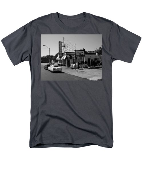 Men's T-Shirt  (Regular Fit) featuring the photograph Raifords Disco Memphis B Bw by Mark Czerniec