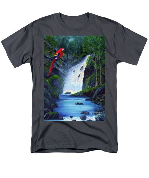 Rain Forest Macaws Men's T-Shirt  (Regular Fit) by Stanton Allaben