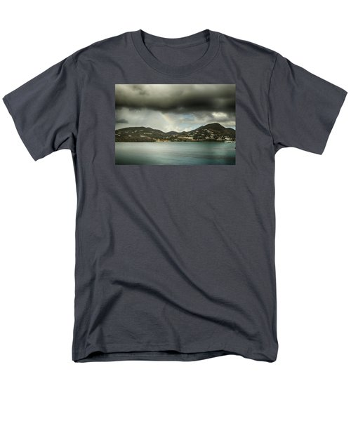 Men's T-Shirt  (Regular Fit) featuring the photograph Rainbow Over St. Maarten by Coby Cooper