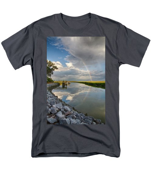Men's T-Shirt  (Regular Fit) featuring the photograph Rainbow Reflection by Patricia Schaefer
