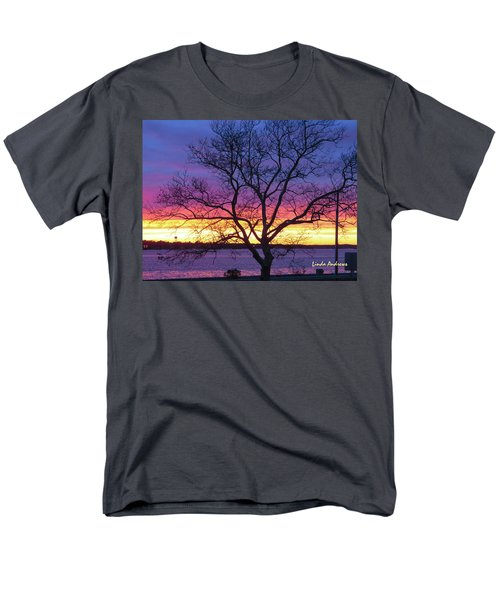 Rainbow Sunset Men's T-Shirt  (Regular Fit) by Robert Henne