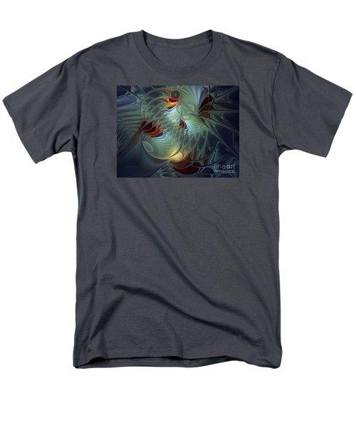 Men's T-Shirt  (Regular Fit) featuring the digital art Reach For The Moon by Karin Kuhlmann