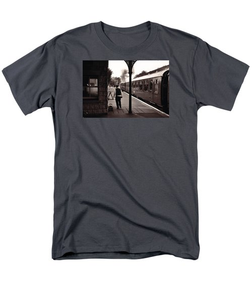 Ready To Depart Corfe Castle Station Men's T-Shirt  (Regular Fit) by Nop Briex