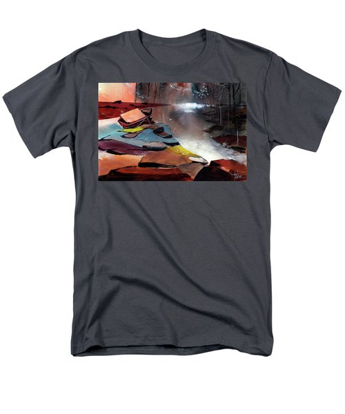 Men's T-Shirt  (Regular Fit) featuring the painting Ready To Leave by Anil Nene