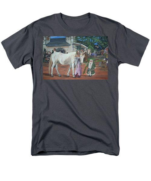 Men's T-Shirt  (Regular Fit) featuring the painting Real Life In Her Dreams by Bryan Bustard