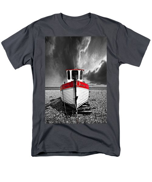 Men's T-Shirt  (Regular Fit) featuring the photograph Rebecca Wearing Just Red by Meirion Matthias