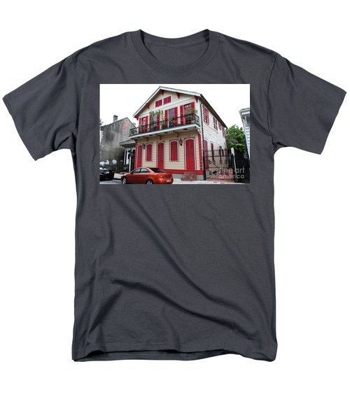 Men's T-Shirt  (Regular Fit) featuring the photograph Red And Tan House by Steven Spak