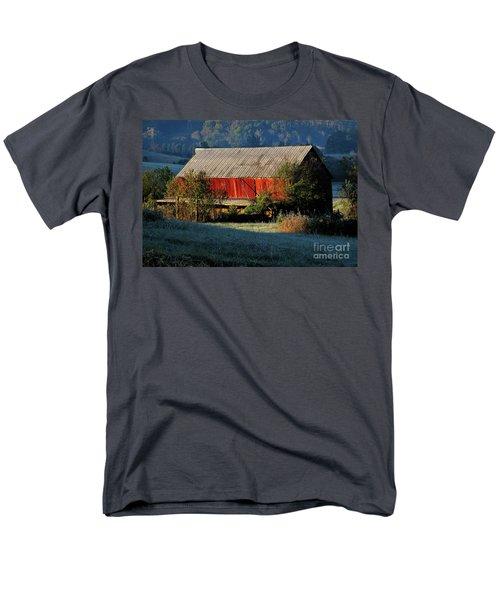 Men's T-Shirt  (Regular Fit) featuring the photograph Red Barn by Douglas Stucky
