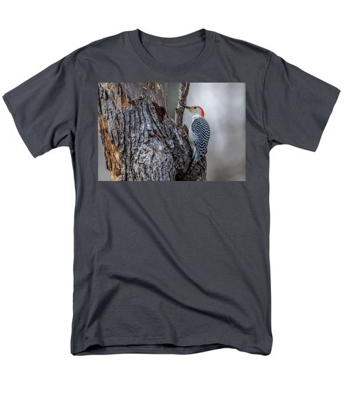 Men's T-Shirt  (Regular Fit) featuring the photograph Red Bellied Woody by Paul Freidlund