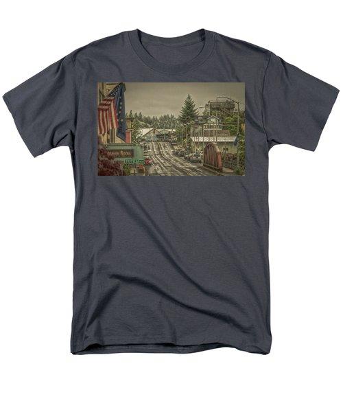 Men's T-Shirt  (Regular Fit) featuring the photograph Red Bridge Haze by Timothy Latta