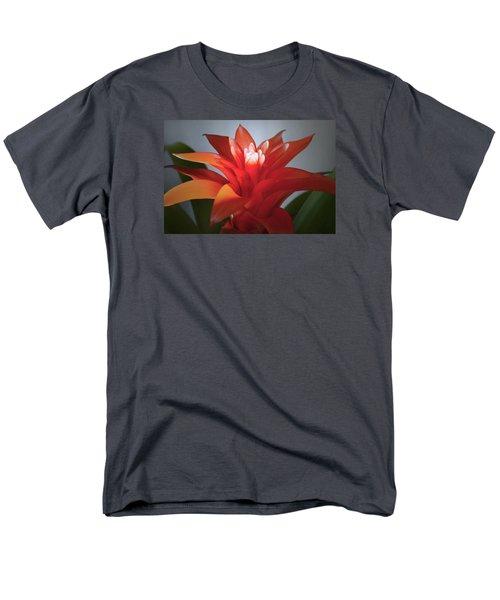Red Bromeliad Bloom. Men's T-Shirt  (Regular Fit) by Terence Davis