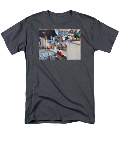 Men's T-Shirt  (Regular Fit) featuring the photograph Red Chimneys by John Rivera