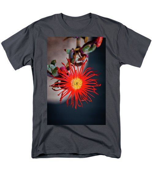 Men's T-Shirt  (Regular Fit) featuring the photograph Red Crab Flower by Bruno Spagnolo