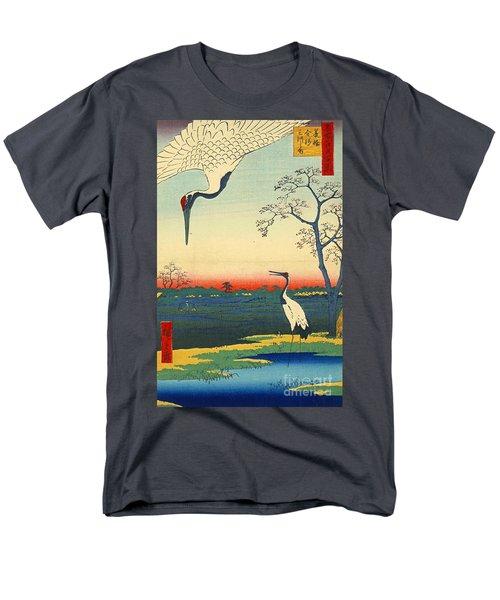 Red Crowned Cranes 1857 Men's T-Shirt  (Regular Fit) by Padre Art