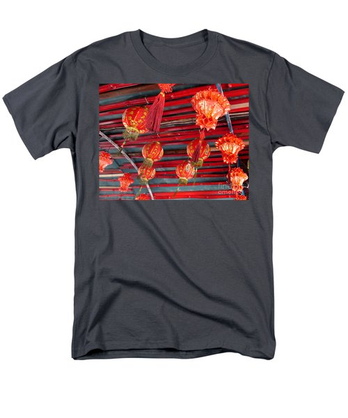 Men's T-Shirt  (Regular Fit) featuring the photograph Red Lanterns 2 by Randall Weidner