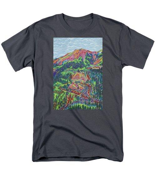 Red Mountain Men's T-Shirt  (Regular Fit) by Robert SORENSEN