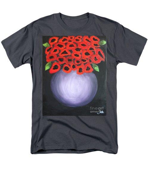 Men's T-Shirt  (Regular Fit) featuring the painting Red Poppies  by Jolanta Anna Karolska