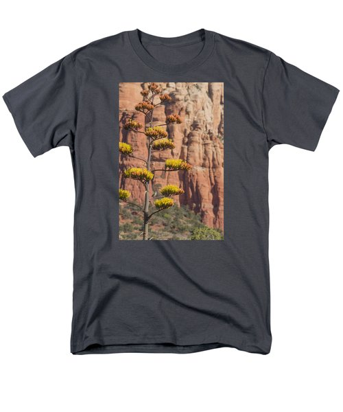 Red Rocks And Century Plant Men's T-Shirt  (Regular Fit) by Laura Pratt