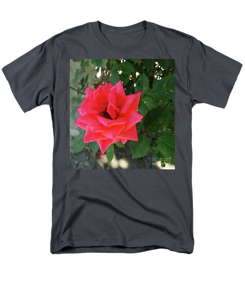 Pink Rose  Men's T-Shirt  (Regular Fit) by Don Pedro De Gracia