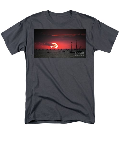 Red Sky Men's T-Shirt  (Regular Fit) by Scott and Dixie Wiley