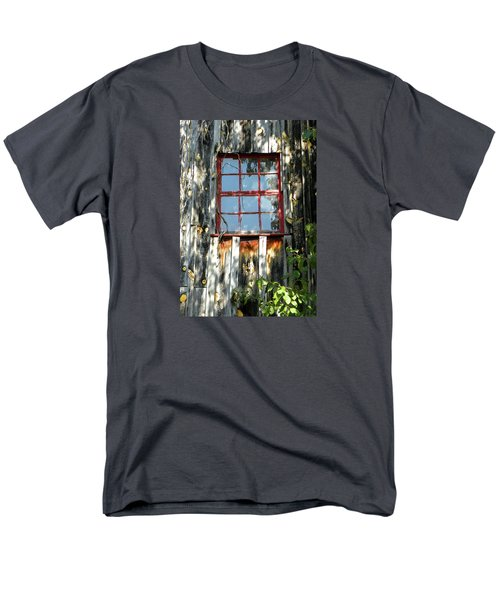 Men's T-Shirt  (Regular Fit) featuring the photograph The Red Window by Sandi OReilly