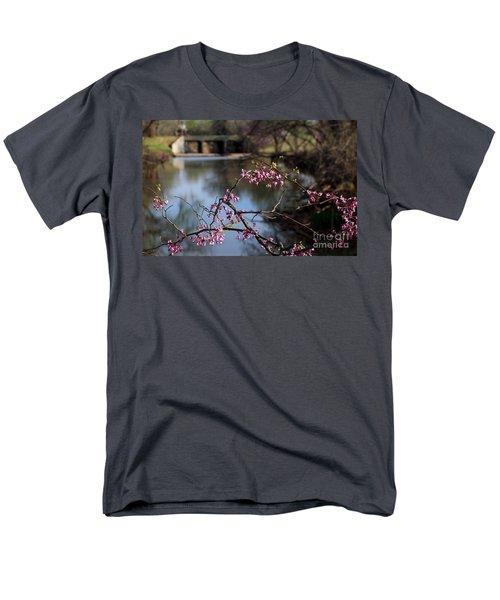 Redbuds And An Old Bridge Men's T-Shirt  (Regular Fit)
