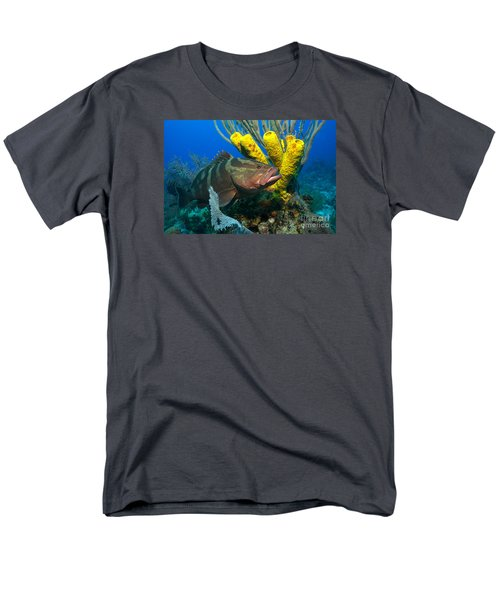 Men's T-Shirt  (Regular Fit) featuring the photograph Reef Denizon by Aaron Whittemore
