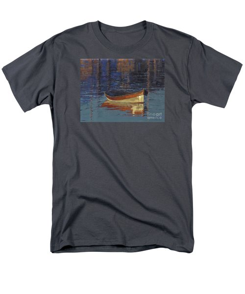 Men's T-Shirt  (Regular Fit) featuring the painting Sold Reflecting At Day's End by Nancy  Parsons